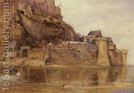 The Ramparts Mont Saint Michel by Alfred William Hunt - Reproduction Oil Painting