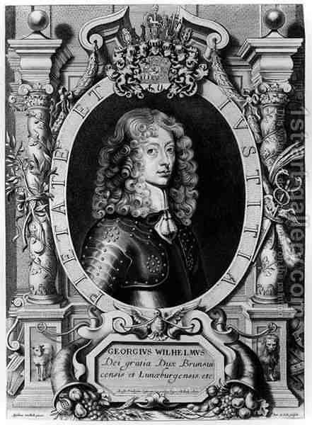 Portrait of George Wilhelm Elector of Brandenburg 1595-1640 by (after) Hulle, Anselmus van - Reproduction Oil Painting