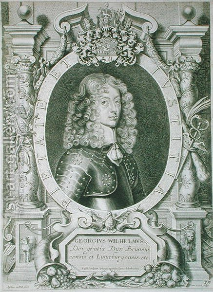 George William 1624-1705 Duke of Braunschweig Luneberg by (after) Hulle, Anselmus van - Reproduction Oil Painting