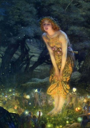 Famous paintings of Fairies: Midsummer Eve