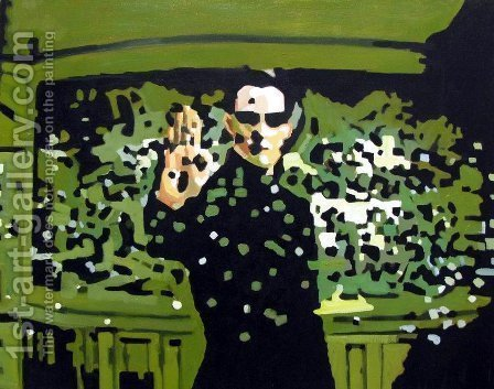 Pop Art: Neo - Matrix - Keanu Reeves - reproduction oil painting