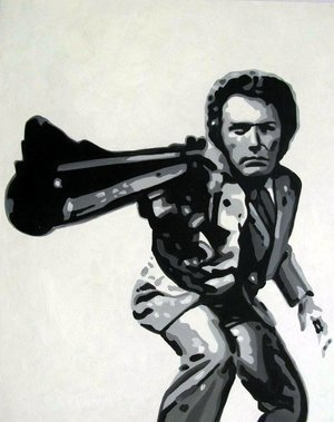 Reproduction oil paintings - Pop Art - Clint Eastwood