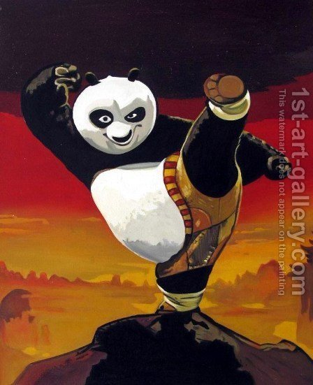 Kung Fu Panda by Pop Art - Reproduction Oil Painting