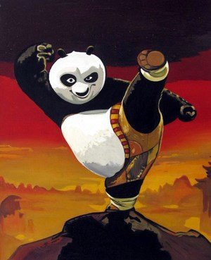 Reproduction oil paintings - Pop Art - Kung Fu Panda