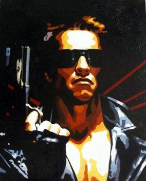 Reproduction oil paintings - Pop Art - Terminator - Arnold Schwarzenegger