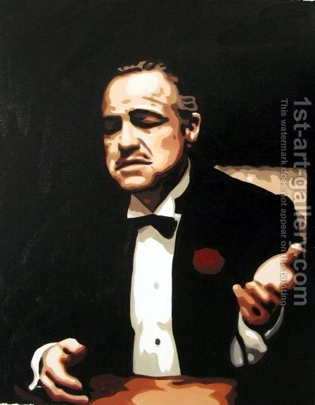 Pop Art: The Godfather - Marlon Brando - reproduction oil painting