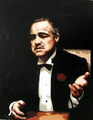 Reproduction oil paintings - Pop Art - The Godfather - Marlon Brando