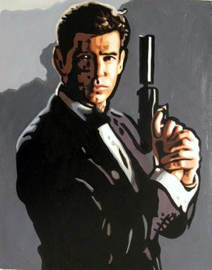 Reproduction oil paintings - Pop Art - James Bond - Pierce Brosnan