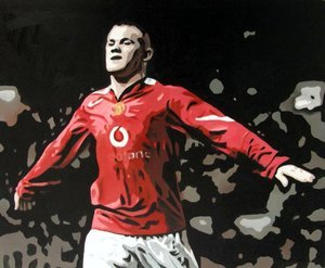 Reproduction oil paintings - Pop Art - Wayne Rooney 3