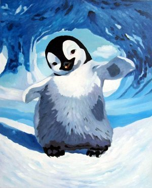 Reproduction oil paintings - Pop Art - Happy Feet