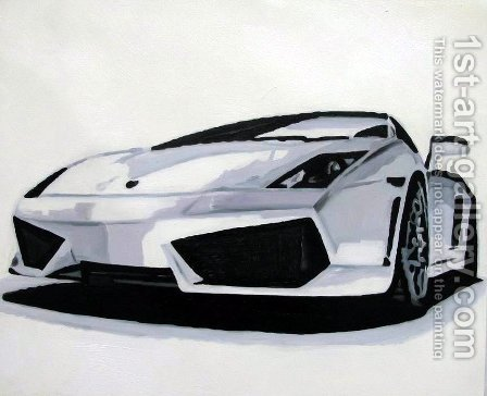 Lamborghini by Pop Art - Reproduction Oil Painting