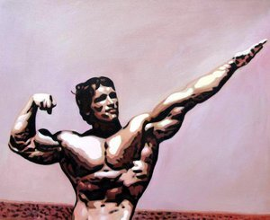 Reproduction oil paintings - Pop Art - Schwarzenegger - Mr Universum