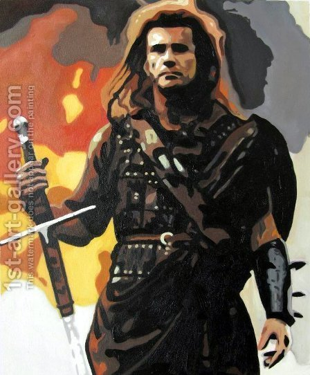 Pop Art: The Patriot - Mel Gibson - reproduction oil painting
