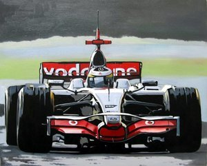 Reproduction oil paintings - Pop Art - Formula 1 McLaren - 2007 Alonso