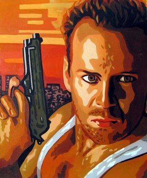 Reproduction oil paintings - Pop Art - Die Hard - Bruce Willis