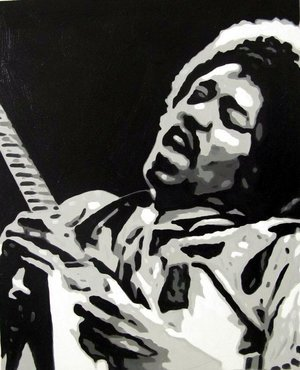 Reproduction oil paintings - Pop Art - Jimi Hendrix 2