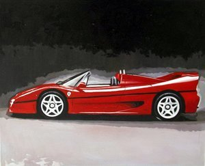 Reproduction oil paintings - Pop Art - Ferrari sports car