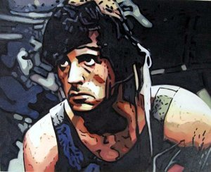 Reproduction oil paintings - Pop Art - Rambo - Sylvester Stallone 2