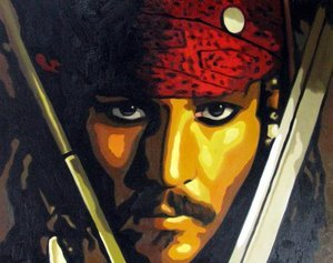 Reproduction oil paintings - Pop Art - Pirates of the Caribbean - Johnny Depp
