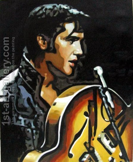 Elvis Presley 4 by Pop Art - Reproduction Oil Painting