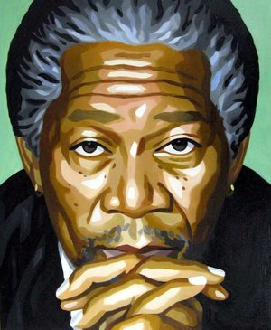 Reproduction oil paintings - Pop Art - Morgan Freeman