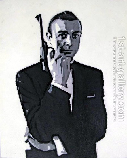 Pop Art: James Bond - reproduction oil painting
