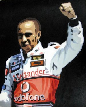 Reproduction oil paintings - Pop Art - Hamilton - Formula 1