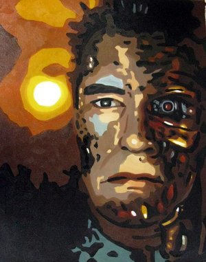 Reproduction oil paintings - Pop Art - Terminator - Arnold Schwarzenegger 2