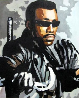 Reproduction oil paintings - Pop Art - Blade - Wesley Snipes