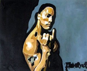 Reproduction oil paintings - Pop Art - The Rock - Dwayne Johnson