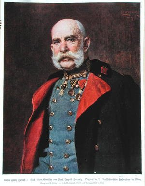 Realism painting reproductions: Portrait of Kaiser Franz Joseph I 1830-1916