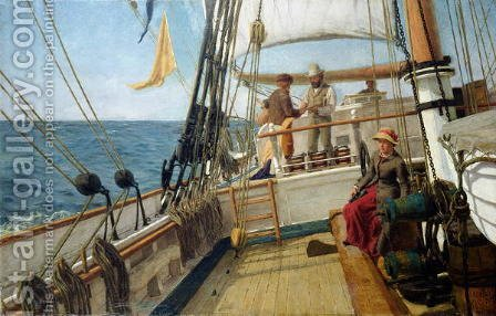 A Conversation at Sea by Allan J. Hook - Reproduction Oil Painting