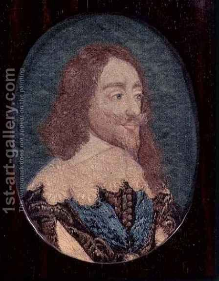 Portrait of Charles I 1600-49 by (after) Hollar, Wenceslaus - Reproduction Oil Painting