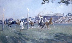 Famous paintings of Other: The Westchester Cup Played at the Hurlingham Club