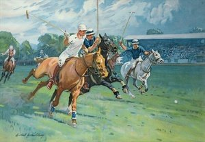 Famous paintings of Other: Polo at Hurlingham The Westchester Cup