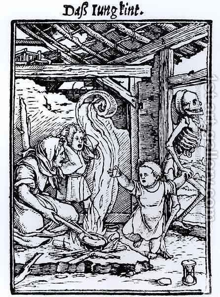 Death Taking a Child by (after) Holbein the Younger, Hans - Reproduction Oil Painting