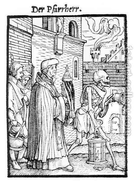 Death and the Parish Priest by (after) Holbein the Younger, Hans - Reproduction Oil Painting