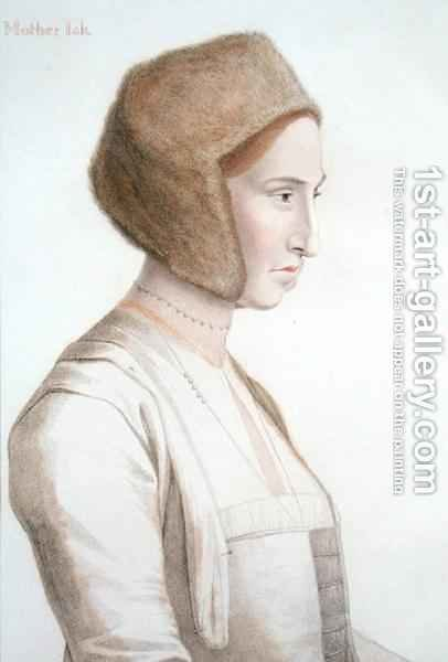 Mother Jackson nurse to the future Edward VI by (after) Holbein the Younger, Hans - Reproduction Oil Painting