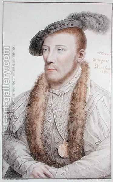 William Parr 1513-71 Marquess of Northampton by (after) Holbein the Younger, Hans - Reproduction Oil Painting