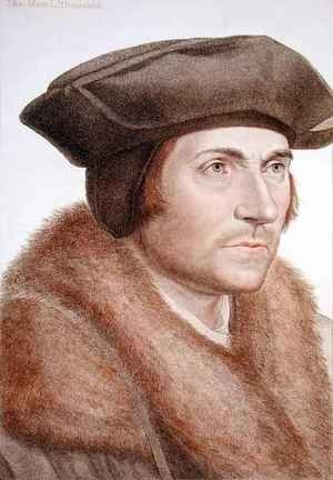 Mannerism painting reproductions: Thomas More Lord Chancellor 1478-1535