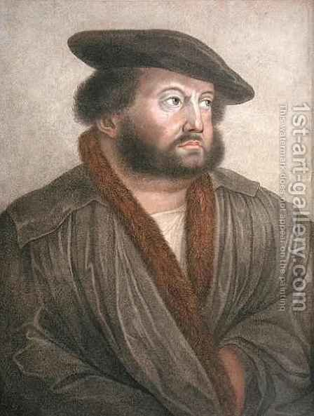 Portrait of Hans Holbein by (after) Holbein the Younger, Hans - Reproduction Oil Painting