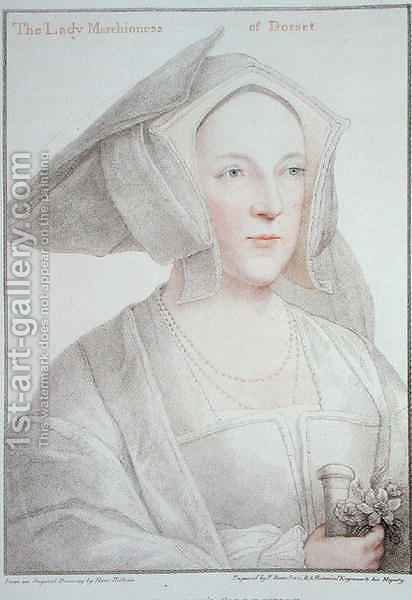 The Lady Marchioness of Dorset 1481-1535 by (after) Holbein the Younger, Hans - Reproduction Oil Painting