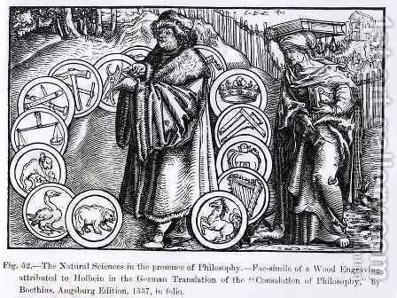 The Natural Sciences in the Presence of Philosophy by (after) Holbein the Younger, Hans - Reproduction Oil Painting