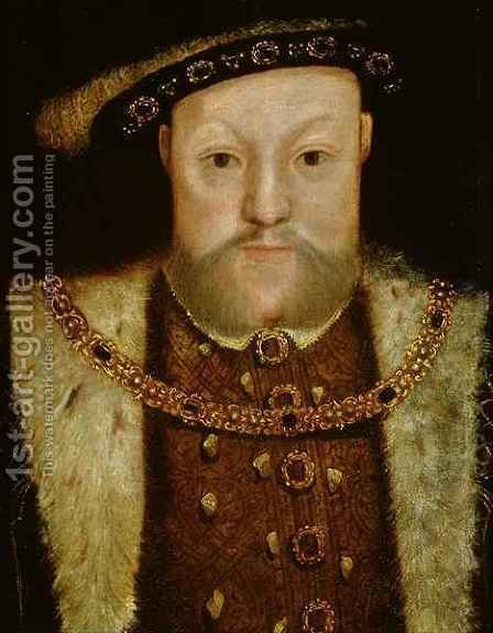 Portrait of Henry VIII 2 by (after) Holbein the Younger, Hans - Reproduction Oil Painting