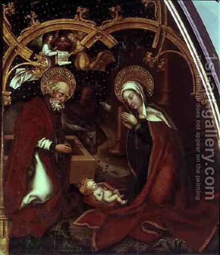 The Nativity by Hans, The Elder Holbein - Reproduction Oil Painting