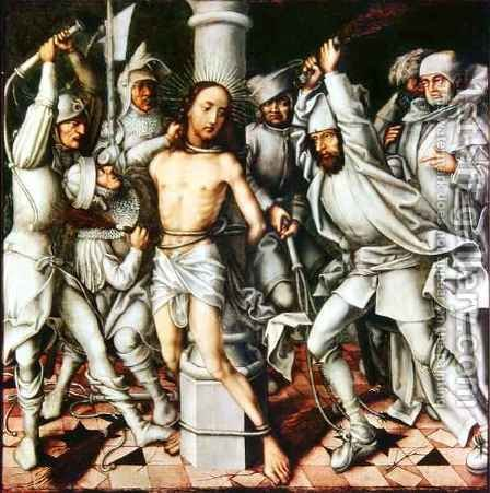 The Flagellation of Christ by Hans, The Elder Holbein - Reproduction Oil Painting