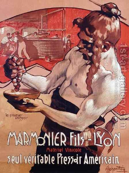 Advertisement for Marmonier Fils Lyon by Adolf Hohenstein - Reproduction Oil Painting