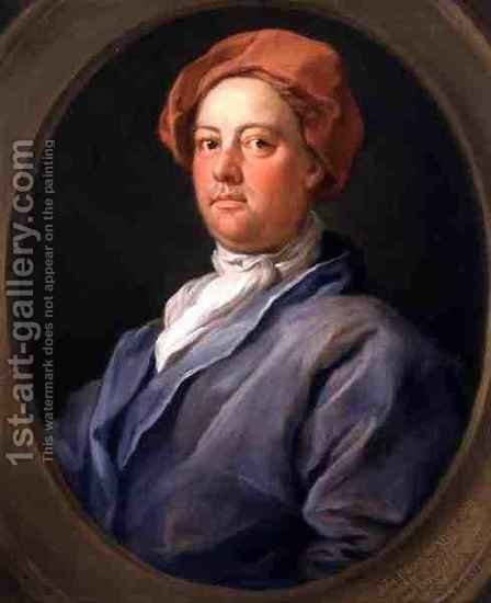 William Hogarth: John Palmer Barrister of the Inner Temple - reproduction oil painting