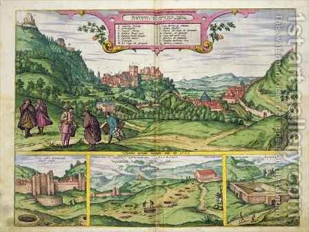 View of the Alhambra from Civitates Orbis Terrarum by (after) Hoefnagel, Joris - Reproduction Oil Painting