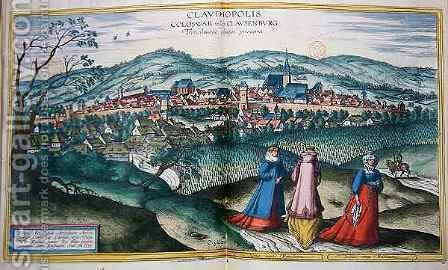 Map of Claudiopolis from Civitates Orbis Terrarum by (after) Hoefnagel, Joris - Reproduction Oil Painting